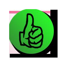 Daumen-hoch-grün