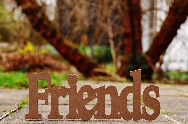 Freunde bieten ein soziales Netz