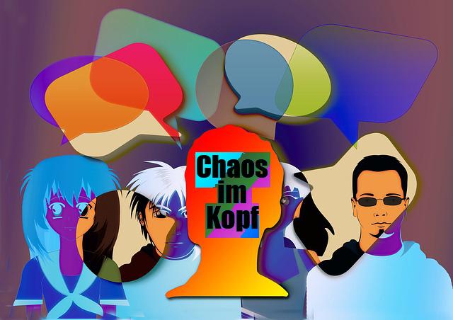 Wer sich kritisiert fühlt, hat u.U. ganz schnell Chaos im Kopf und ist unter Streß.