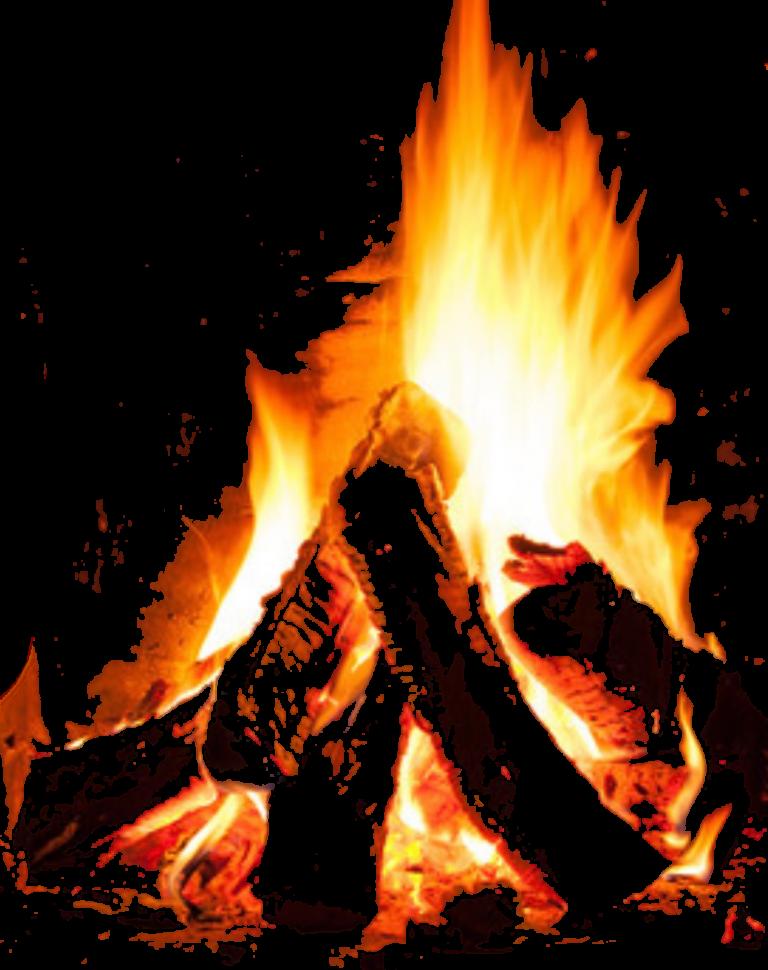 Kamin-Feuer stilisiert, um auf die Möglichkeit einer Feuermeditation hinzuweisen