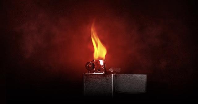 Flamme aus Feuerzeug
