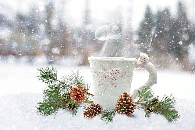 Genuss im Winter, heißes Getränk für die Seele