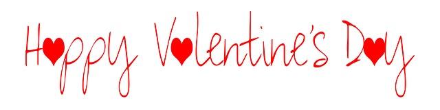 Valentine's Happy Schriftzug © ElisaRiva - pixabay.com - love-2043451_640