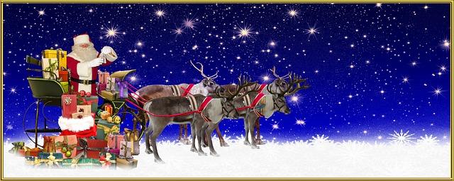 Das Märchen vom Weihnachtsmann und seinen Rentieren