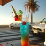 Abkühlung durch einen Cocktail